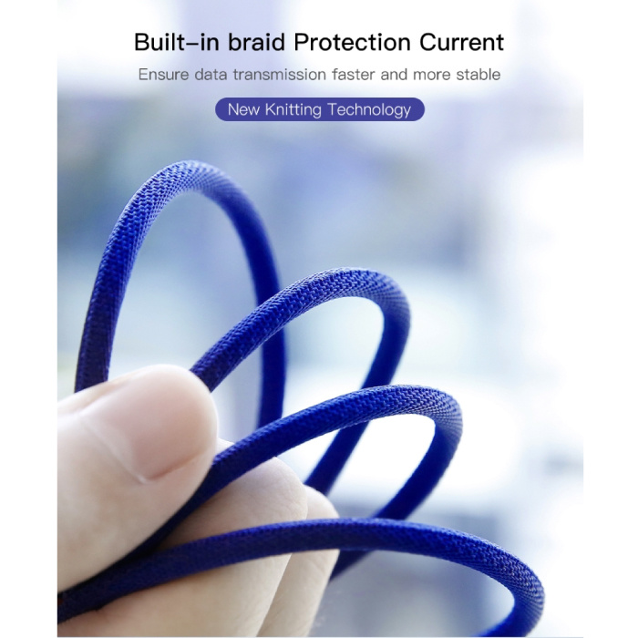 Baseus Lightning USB Charging cable Data cable 3M Braided Nylon Charger iPhone / iPad / iPod Red