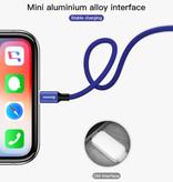Baseus Lightning USB Oplaadkabel Datakabel 5M Gevlochten Nylon Oplader iPhone/iPad/iPod Rood