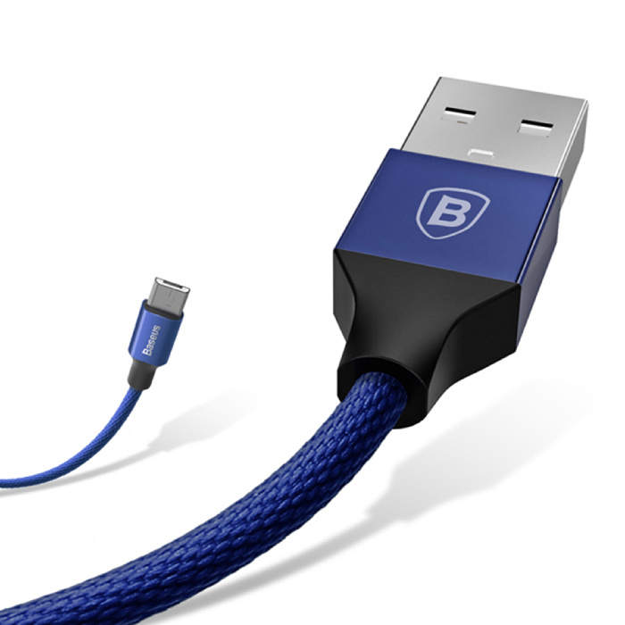 Baseus Lightning USB Charging cable Data cable 5M Braided Nylon Charger iPhone / iPad / iPod Blue