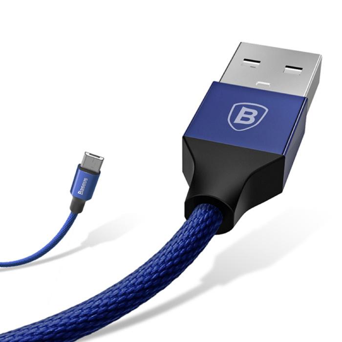 Baseus Lightning USB Oplaadkabel Datakabel 5M Gevlochten Nylon Oplader iPhone/iPad/iPod Blauw