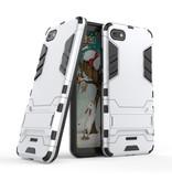 HATOLY iPhone 6 - Robotic Armor Case Cover Cas TPU Case White + Kickstand