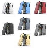 HATOLY iPhone 6 - Robotic Armor Case Cover Cas TPU Case Gray + Kickstand