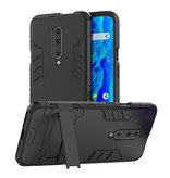 HATOLY iPhone 6 - Robotic Armor Case Cover Cas TPU Hoesje Blauw + Kickstand