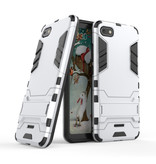 HATOLY iPhone 6 Plus - Robotic Armor Case Cover Cas TPU Case White + Kickstand
