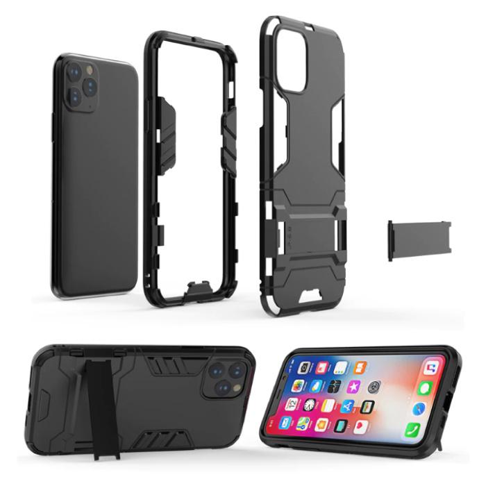 HATOLY iPhone 6 Plus - Robotic Armor Case Cover Cas TPU Case Gray + Kickstand
