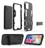 HATOLY iPhone 7 Plus - Robotic Armor Case Cover Cas TPU Case Black + Kickstand