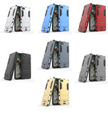 HATOLY iPhone 7 - Robotic Armor Case Cover Cas TPU Hoesje Grijs + Kickstand