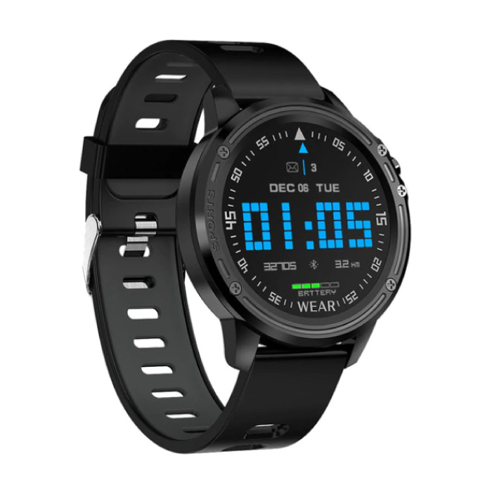 L8 Sports Smartwatch Fitness Sport Activity Tracker Smartphone Watch iOS Android iPhone Samsung Huawei Black