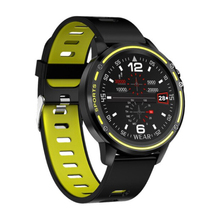 L8 Sport SmartWatch Fitness Sports Tracker Activité Smartphone Regarder iOS iPhone Android Samsung Huawei Yellow