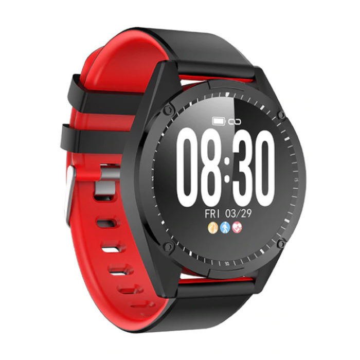 Sports Smartwatch Fitness Sport Activity Tracker Smartphone Watch iOS Android iPhone Samsung Huawei Red