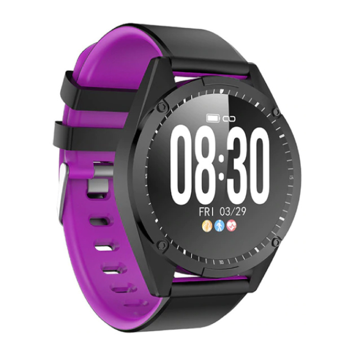 Sports Smartwatch Fitness Sport Activity Tracker Smartphone Watch iOS Android iPhone Samsung Huawei Purple