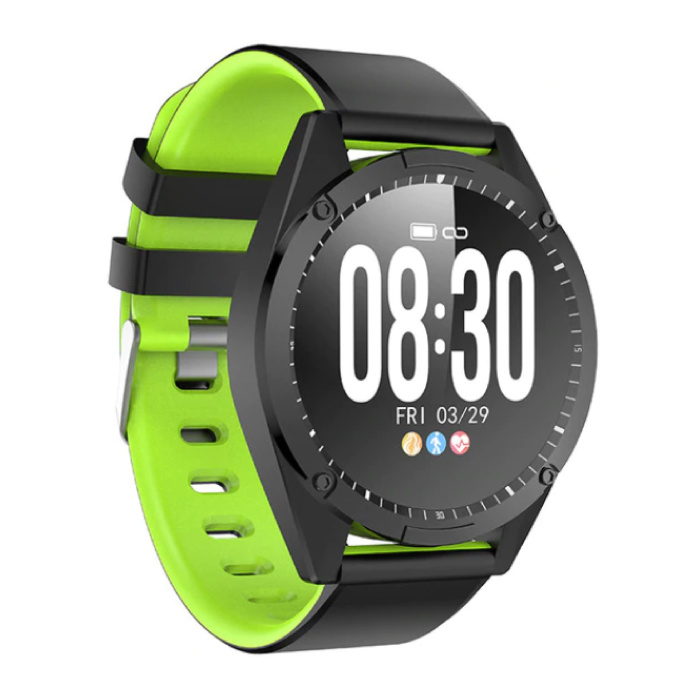 Sports Smartwatch Fitness Sport Activity Tracker Smartphone Horloge iOS Android iPhone Samsung Huawei Green