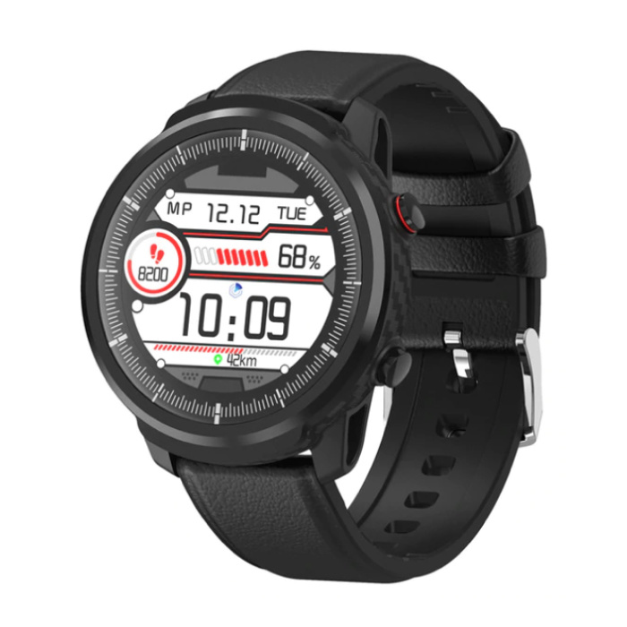 S10 Smartwatch Fitness Sport Activity Tracker Smartphone Watch iOS Android iPhone Samsung Huawei Black Leather