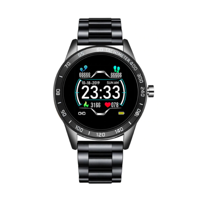 Sports Smartwatch Fitness Sport Activity Tracker Montre Smartphone iOS Android iPhone Samsung Huawei Noir