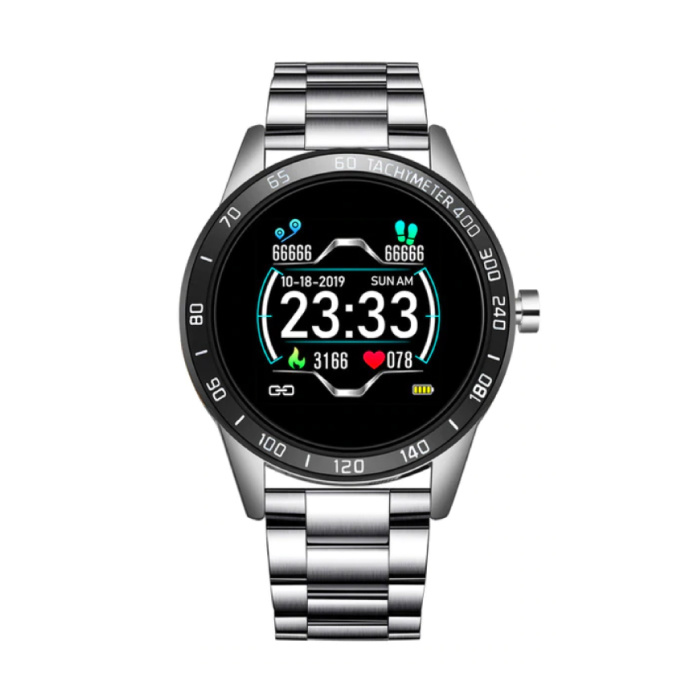 Sport Smartwatch Fitness Sport Activity Tracker Montre Smartphone iOS Android iPhone Samsung Huawei Or Argent