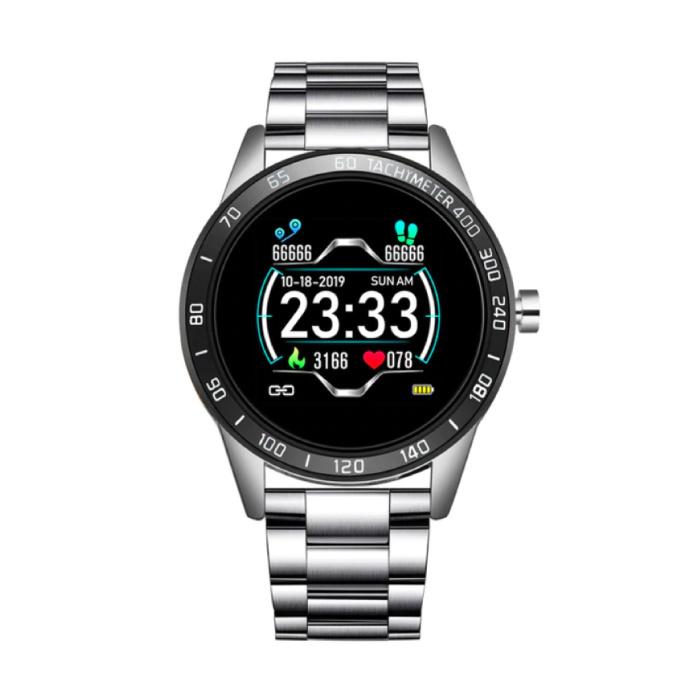 Sport Smartwatch Fitness Sport Aktivität Tracker Smartphone Uhr iOS Android iPhone Samsung Huawei Gold Silber