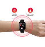 Stuff Certified® B57 Sports Smartwatch Fitness Sport Activity Tracker Hartslagmeter Smartphone Horloge iOS Android iPhone Samsung Huawei Zwart