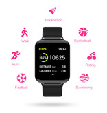 Stuff Certified® B57 Sports Smartwatch Fitness Sport Activity Tracker Hartslagmeter Smartphone Horloge iOS Android iPhone Samsung Huawei Wit