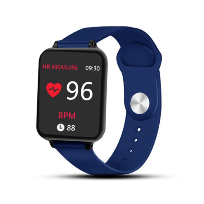 B57 Sport Smartwatch Fitness Sport Aktivität Tracker Herzfrequenzmesser Smartphone Uhr iOS Android iPhone Samsung Huawei Blue ansehen