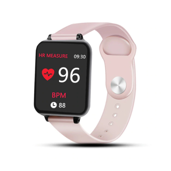 B57 Sports Smartwatch Fitness Sport Activity Tracker Hartslagmeter Smartphone Horloge iOS Android iPhone Samsung Huawei Roze