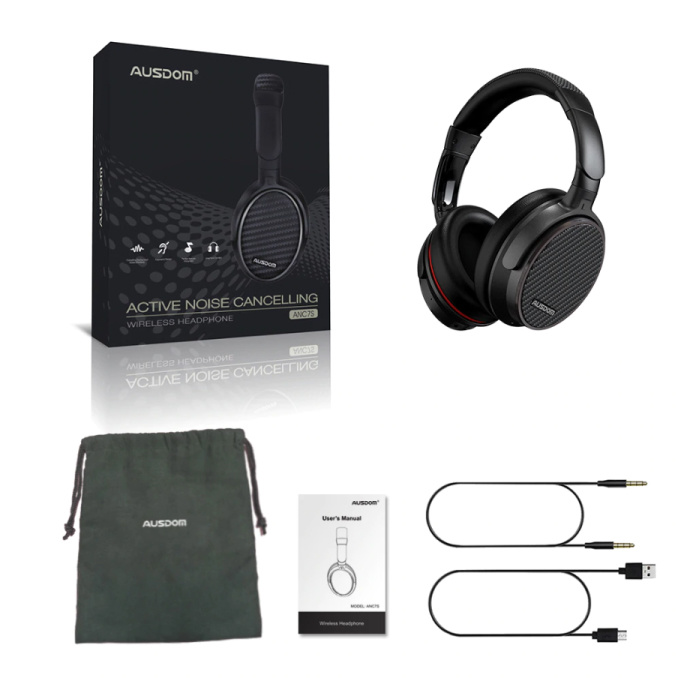 AUSDOM ANC7S Casque sans fil Bluetooth sans fil Casque Hi-Fi