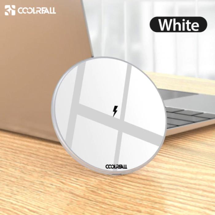 15W Chargeur universel sans fil Qi de charge sans fil Pad blanc