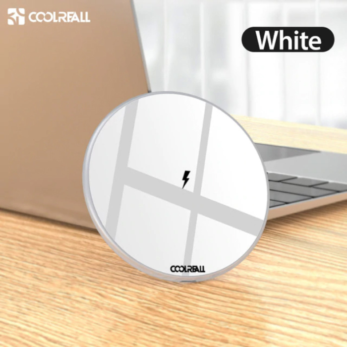 Coolreall 15W Qi Universele Draadloze Oplader Wireless Charging Pad Wit