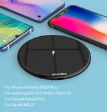 Coolreall 15W Qi Universele Draadloze Oplader Wireless Charging Pad Zwart