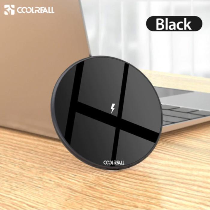 Chargeur sans fil universel 15W Qi Pad de charge sans fil noir