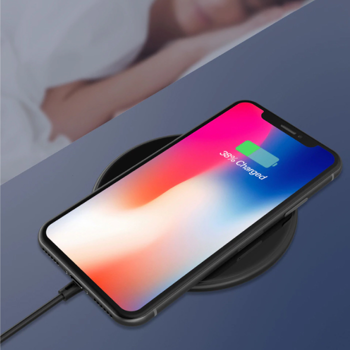 Coolreall 15W Qi Universele Draadloze Oplader Wireless Charging Pad Rood