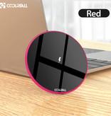 Coolreall 15W Universal chargeur sans fil Qi de charge sans fil Pad rouge