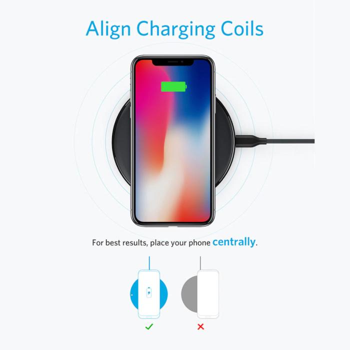 ANKER MaréesL'énergie 10W Universal chargeur sans fil Qi Wireless Pad de charge