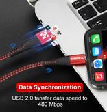 Coolreall USB foudre Cable de données 1 M Chargeur iPhone Nylon Tressé / iPad / iPod rouge