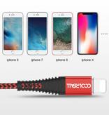 Coolreall Lightning USB Oplaadkabel Datakabel 1M Gevlochten Nylon Oplader iPhone/iPad/iPod Blauw