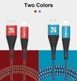 Coolreall USB foudre Cable de données 1 M Chargeur iPhone Nylon Tressé / iPad / iPod Bleu