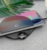 Baseus Qi Universele Draadloze Oplader 10W LED Display Wireless Charging Pad Zwart