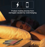 Baseus Qi Universele Draadloze Oplader 10W LED Display Wireless Charging Pad Blauw