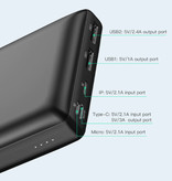 Baseus Externe 30.000mAh Powerbank Noodaccu Oplader Charger Wit