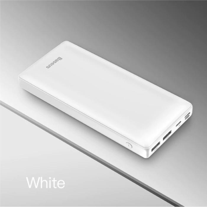 Externes 30.000-mAh-Powerbank-Notladegerät Ladegerät Weiß