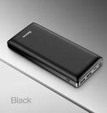 Baseus Batterie externe 30.000mAh Banque d'alimentation d'urgence Chargeur Chargeur Noir