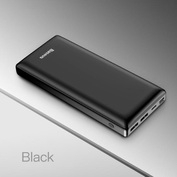 Chargeur de batterie de secours externe 30,000mAh Powerbank noir