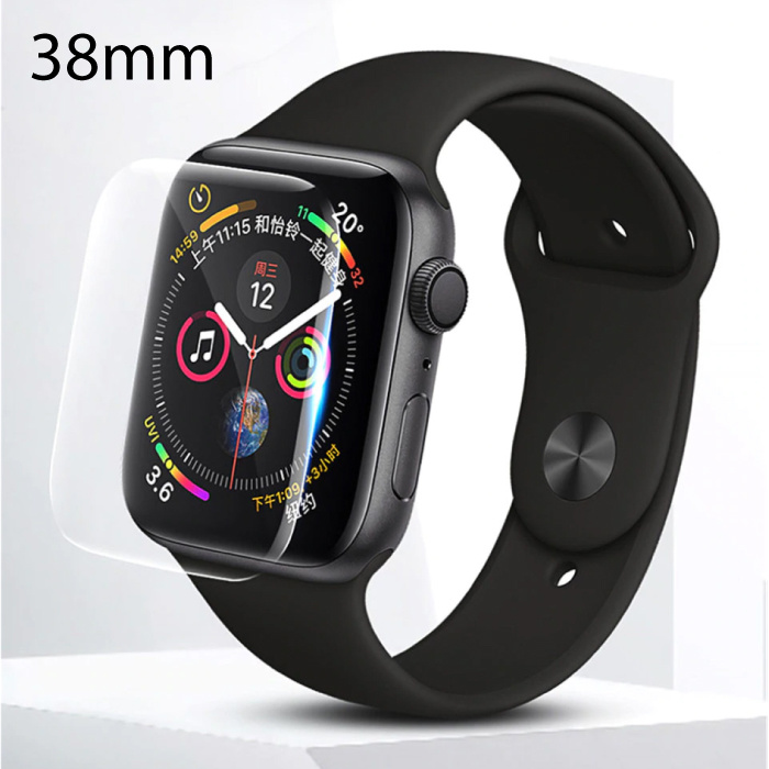 38mm Hydrogel Clear Screen Protector Full Cover Folie voor iWatch Series