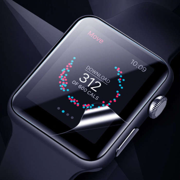 Stuff Certified® 44mm Hydrogel Clear Screen Protector Full Cover Folie voor iWatch Series