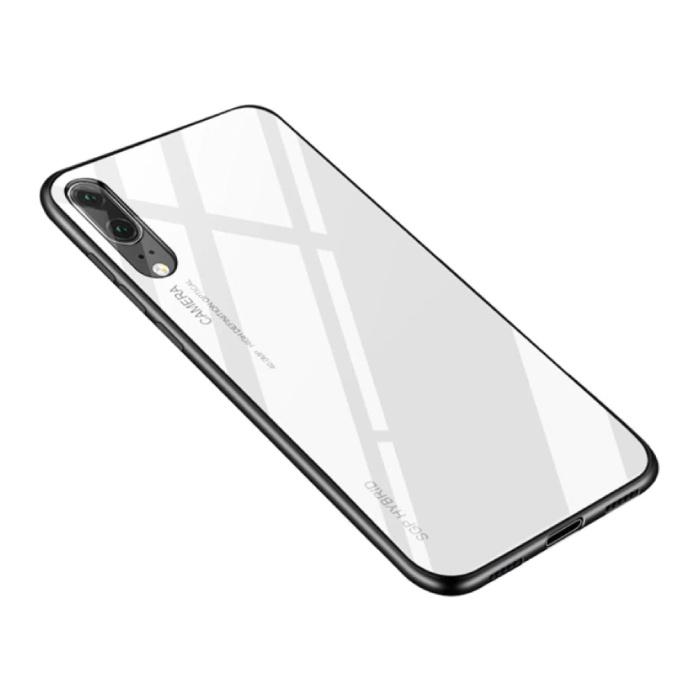 Huawei P20 Lite - Dégradé Armure de couverture de cas Cas TPU blanc