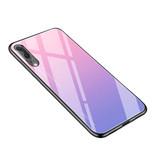 Stuff Certified® Huawei Mate 20 X - Gradient Armor Case Cover Cas TPU Case Pink