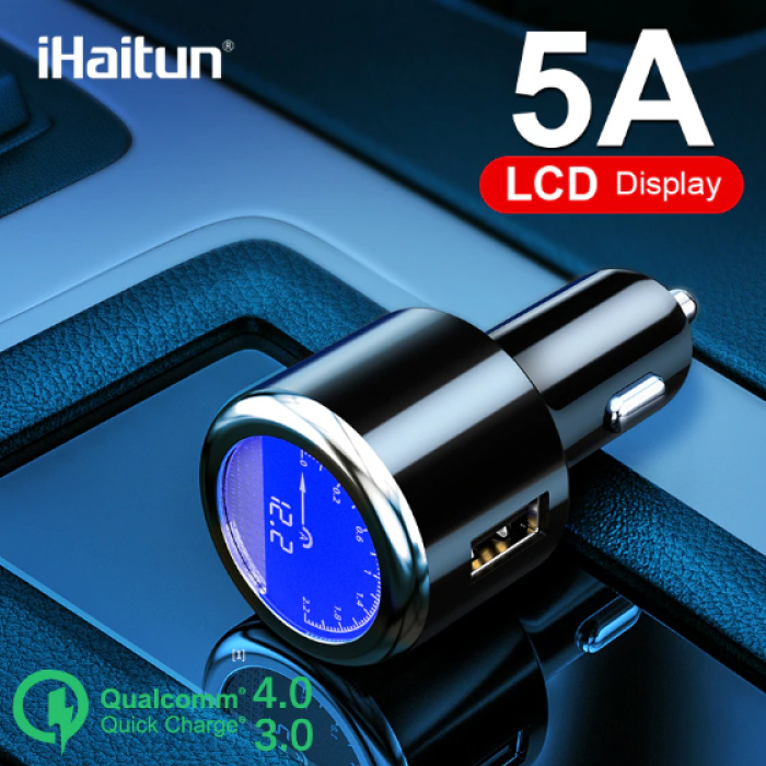 iHaitun Qualcomm Quick Charge 3.0 Autolader/Carcharger - Zwart