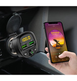FLOVEME Dual USB Autolader Bluetooth Transmitter Handsfree Oplader FM Radio Kit Met SD-Kaart Slot Zwart