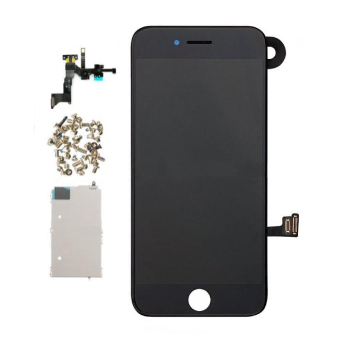 iPhone 7 Vormontierter Bildschirm (Touchscreen + LCD + Teile) AAA + Qualität - Schwarz