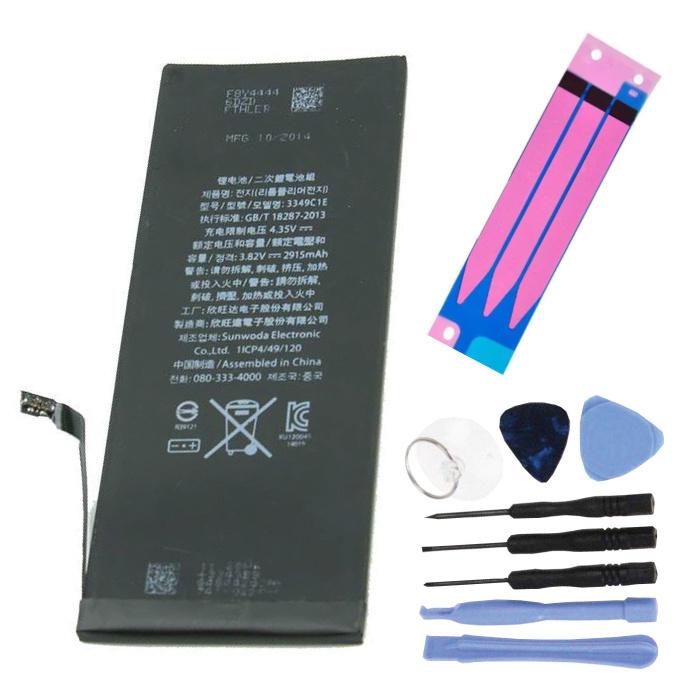 Kit de Réparation Batterie iPhone 6 (+ Outils & Autocollant Adhésif) - Qualité AAA +