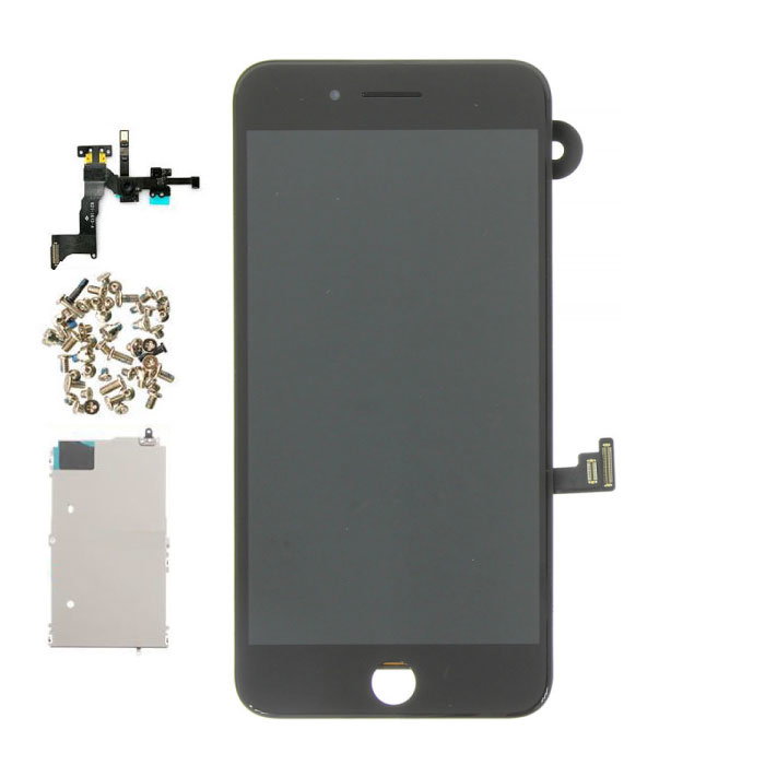 iPhone 8 Plus Voorgemonteerd Scherm (Touchscreen + LCD + Onderdelen) A+ Kwaliteit - Zwart